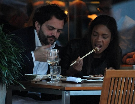 Naomi Harris taking a meal with Peter Legler