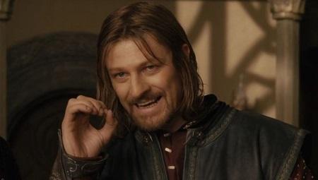 English Actor, Sean Bean as Boromir