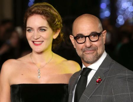 Stanley Tucci with wife Felicity Blunt