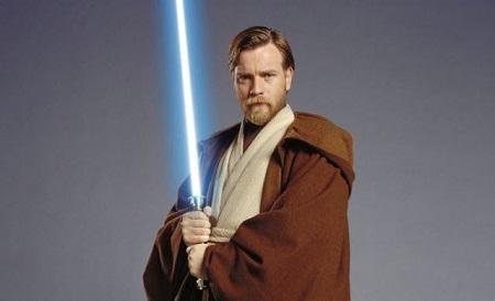 Scottish actor, Ewan McGregor as Obi-Wan Kenobi in Star Wars