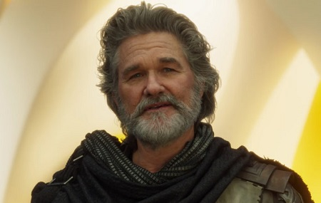American actor, Kurt Russell as Ego in Guardians of the Galaxy Vol. 2