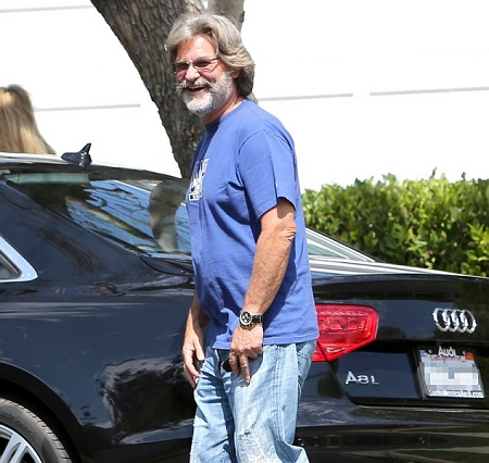 Kurt Russell and his Audi A8