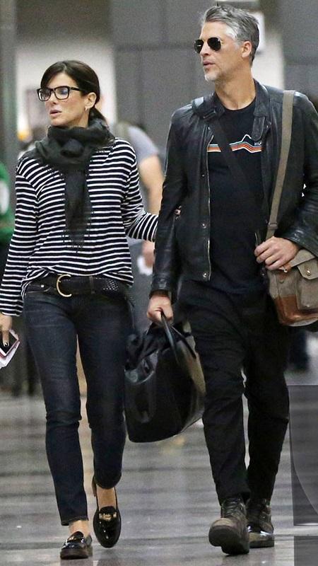 Sandra with her current boyfriend, Bryan Randall