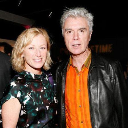 Cindywith her former partner David Byrne