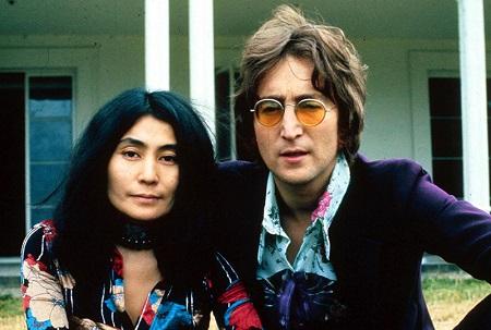 Yoko Ono and her late husband John Lennon