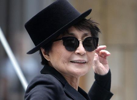 Japanese singer and peace activist Yoko Ono