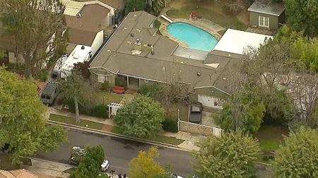 Luke Perry's house in Sherman Oaks, L.A.