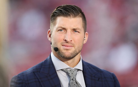 The American professional baseball player Tim Tebow