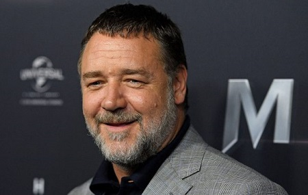 The New Zealand actor and musician Russell Crowe