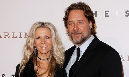 Russell Crowe and his ex-wife Danielle Spencer