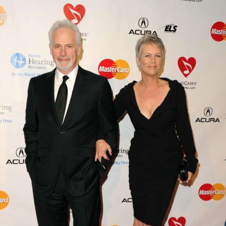 Curtiswith her husband Christopher Guest