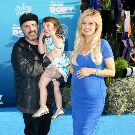Rotellawith his former wife Holly Madison and their children