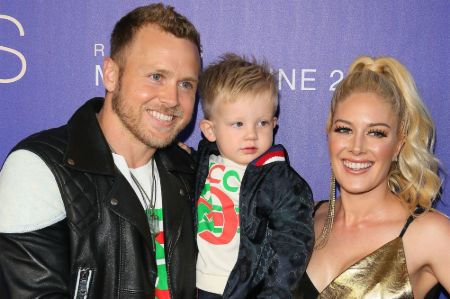 Heidi Montag with husband Spencer Pratt and her child