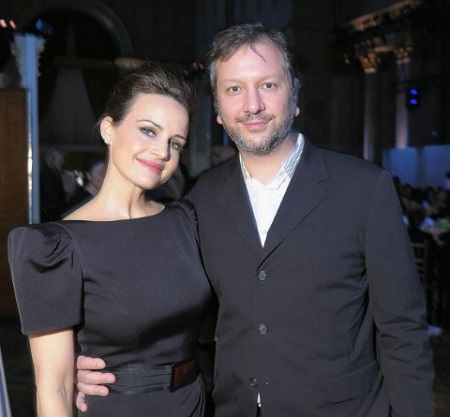 Carla Gugino and her boyfriend Sebastian Gutierrez