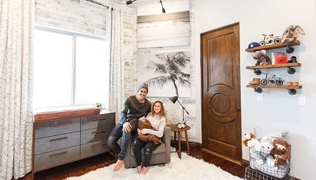 Alexa Vega and Carlos Pena Jr.'s nursery for their baby boy Ocean