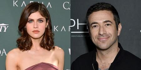 Ari Melber and his ex-girlfriend Alexandra Daddario