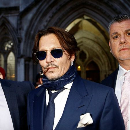 Depp appearing at the UK high court after suing The Sun in a defamation suit