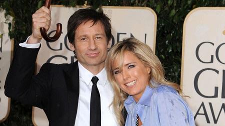 Téa Leoni and her ex-husband David Duchovny