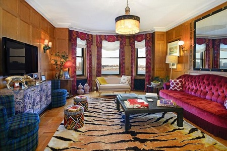 Inside view of Tea Leoni's Upper West Side Apartment