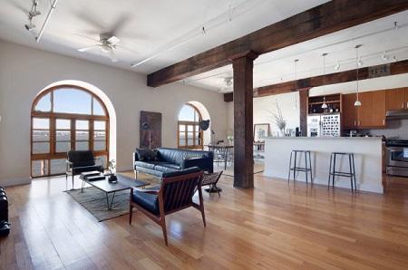 Inside view of Michael Shannon's Brooklyn loft
