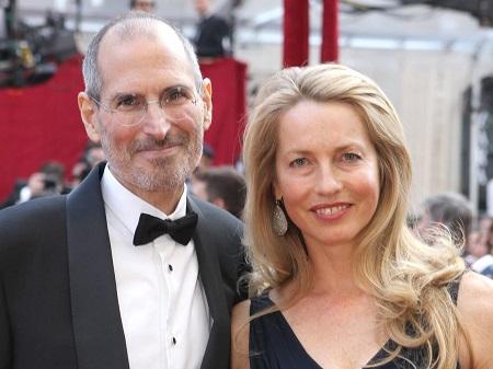 Laurene Powell Jobs with her late husband, Steve Jobs