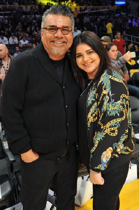 Mayan Lopez with her father, George