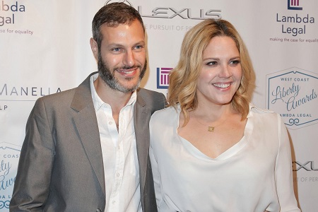 Mary McCormack and husband Michael Morris