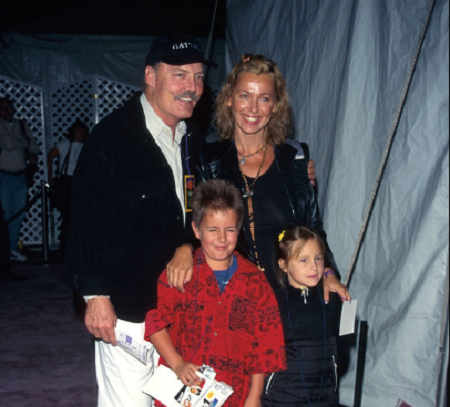 Stacy with his wife and children