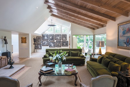 Inside view of Anne Archer's Los Angeles house
