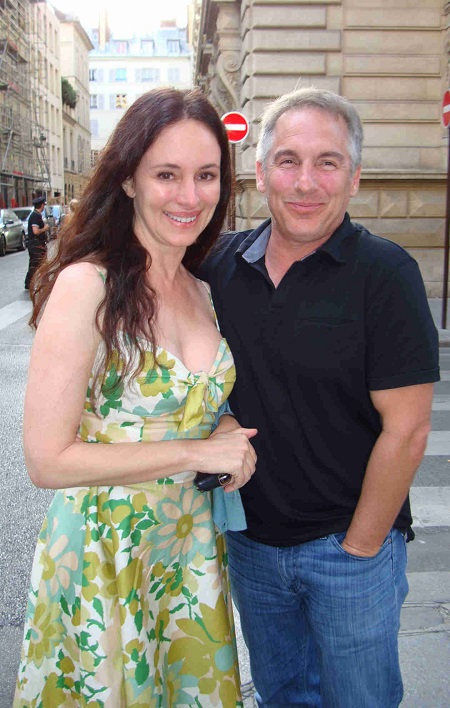 Brian with his wife, Madeleine Stowe