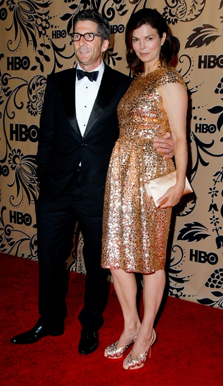 Leland with his wife, Jeanne Tripplehorn