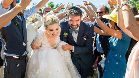 Maggie enjoys a healthy marital life with husband Brent Bushnell