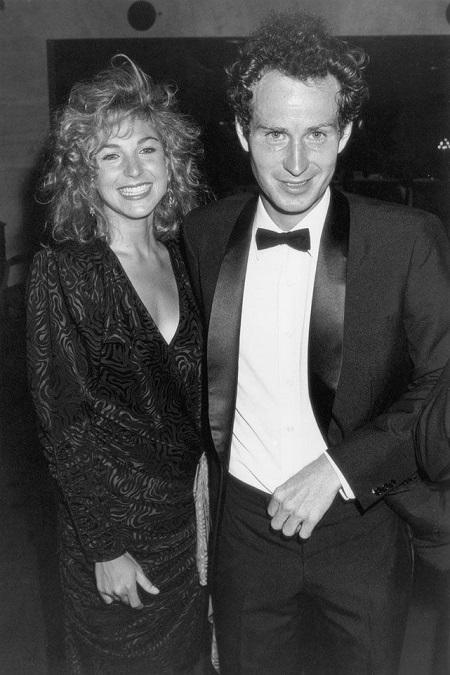 Tatum with her former husband, John McEnroe