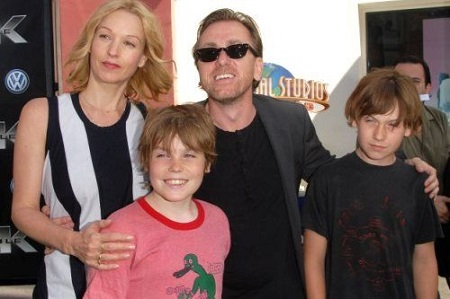 Tim with his wife and sons