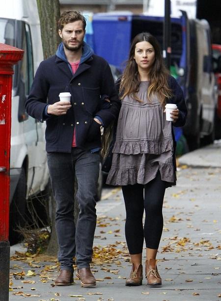 Jamie with his wife, Amelia Warner