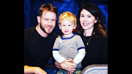 Staite with husband Charlie Ritchie & children